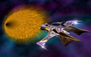 """La """"White Star"""" entra nell'iperspazio in una scena di Babylon 5"""