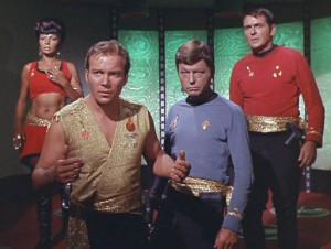 """Uhura, Kirk, McCoy e Scott nell'universo parallelo chiamato """"universo dello specchio"""""""