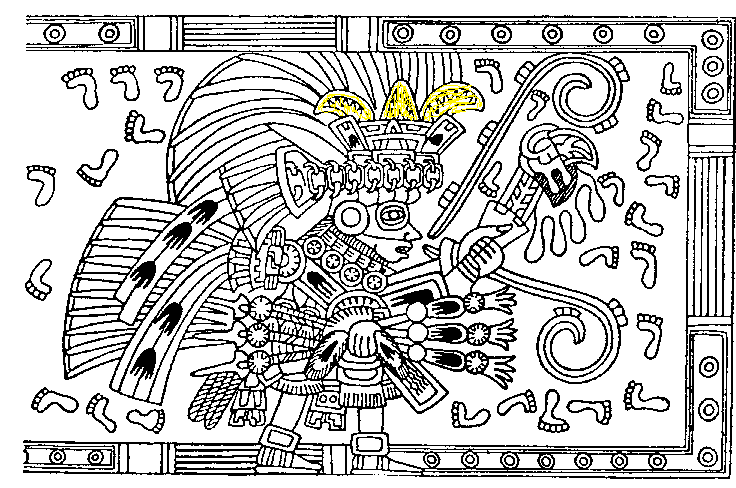 tlaloc with Fleur de lis emblem in headdress edited
